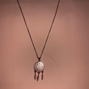 Rose gold dream catcher necklace